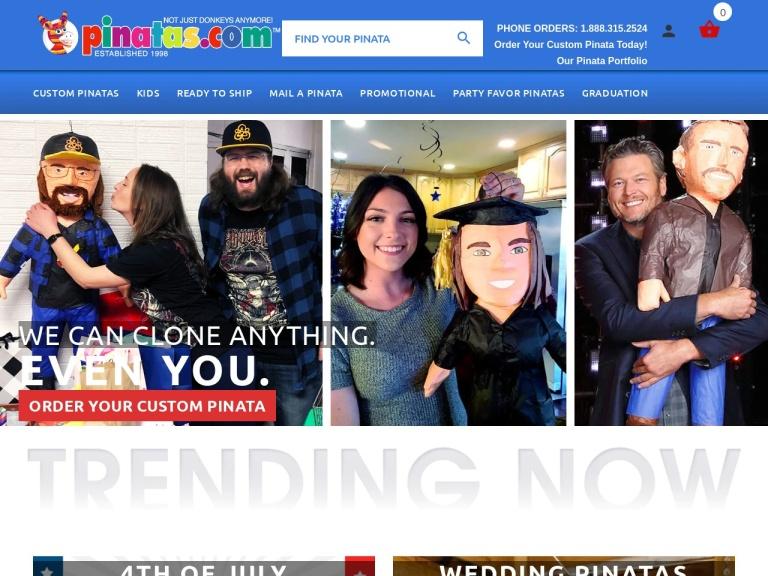 Pinatas.com screenshot