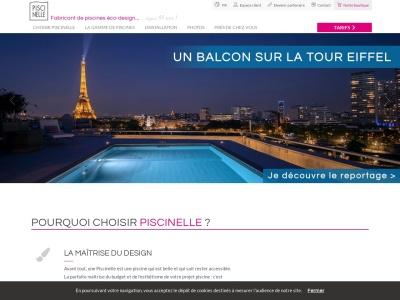 Piscinelle.com : constructeur de piscines haut de gamme.