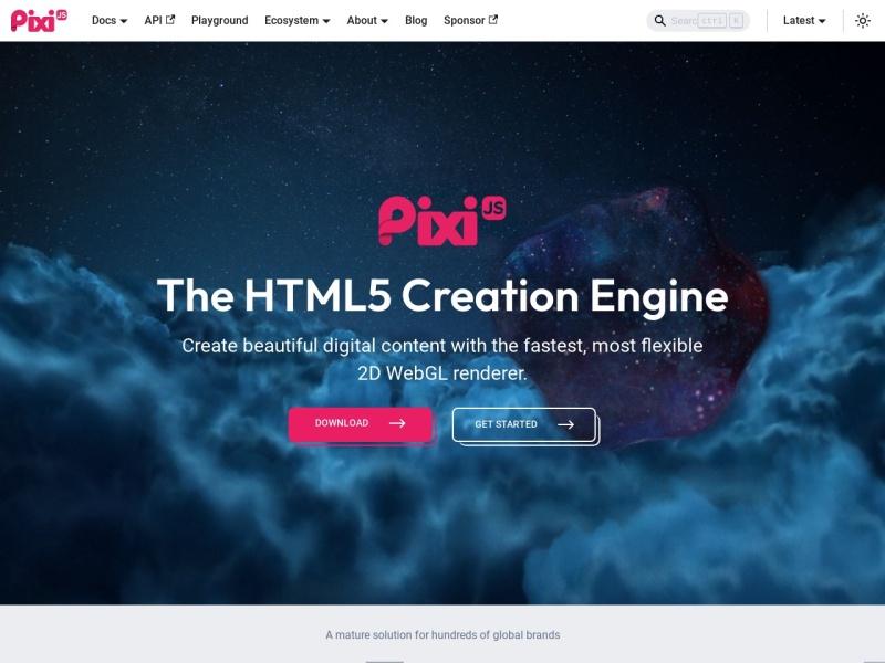 PixiJS v4 |JavaScriptでできたWebGLレンダラー
