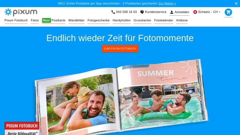 www.pixum.ch Vorschau, Pixum Fotoservice Schweiz