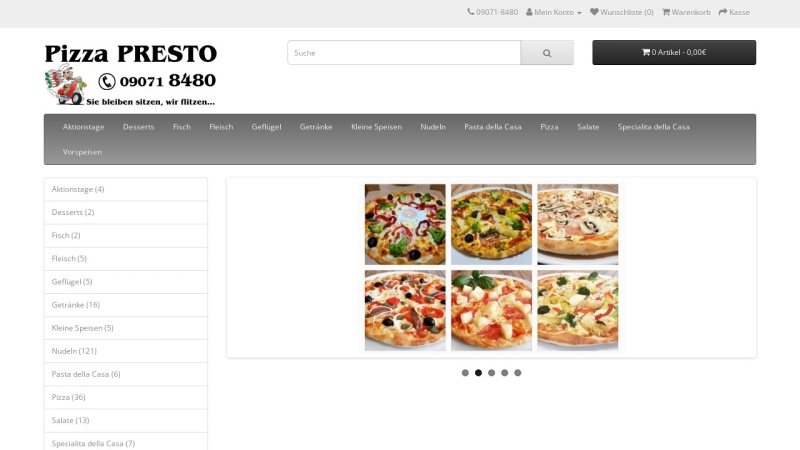 www.pizza-presto.de Vorschau, Pizza-Express Presto