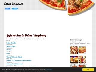 Screenshot der Website pizzaessenbestellen.at
