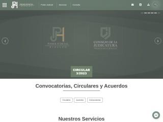 Captura de pantalla para pjhidalgo.gob.mx