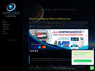 Captura de pantalla para planetaweb.com.mx
