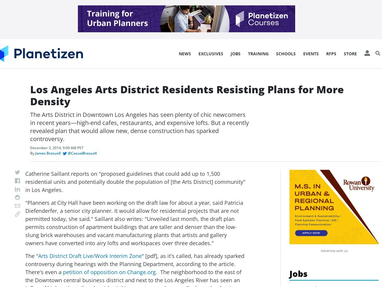 Los Angeles Arts District Residents Resisting Plans for More …