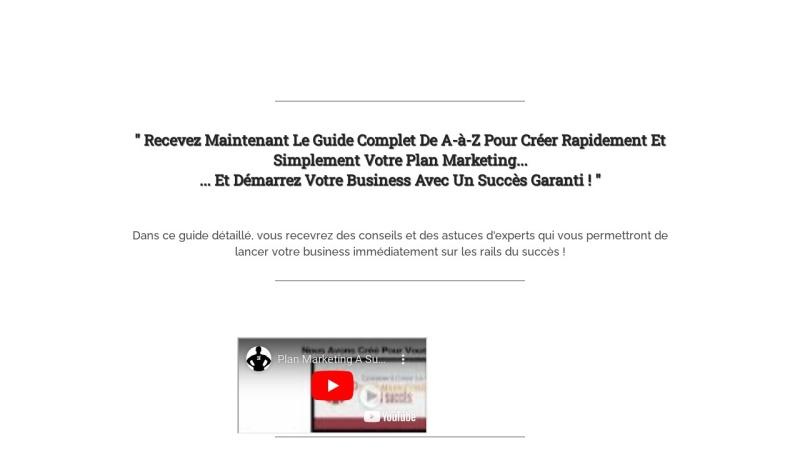 plan marketing du succes