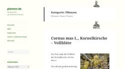 www.planten.de Vorschau, Pflanzen-Datenbank