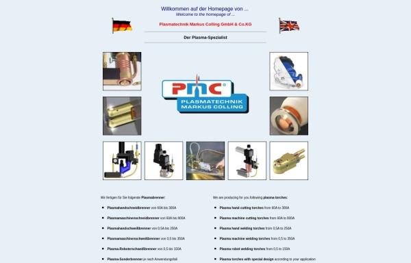 Vorschau von www.plasmatechnik.com, Plasmatechnik Markus Colling GmbH & Co. KG