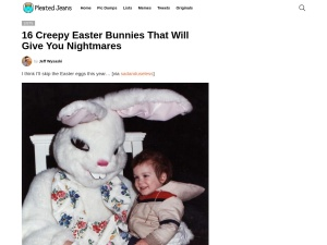 16 Creepy Easter Bunnies That Will Give You Nightmares | Pleated-Jeans.comのスクリーンショット