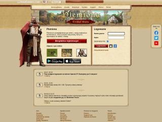 Zrzut ekranu strony plemiona.pl
