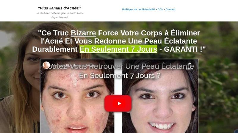 methode plus jamais d'acne