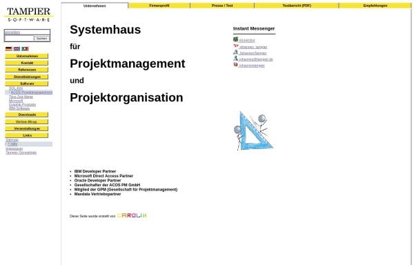 Vorschau von www.pmhost.de, Tampier Software