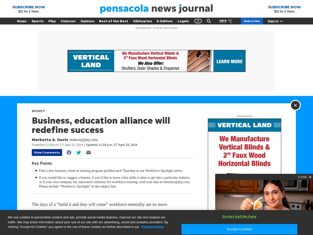 Business, education alliance will redefine success
