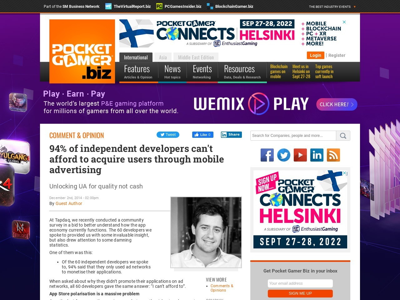 94% of independent developers can't afford to acquire users through mobile …