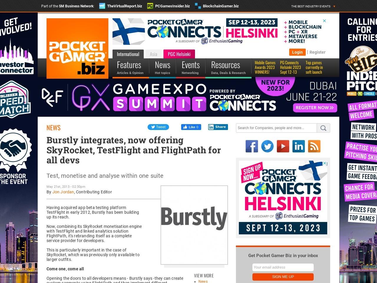 Burstly integrates, now offering SkyRocket, TestFlight and FlightPath for all devs