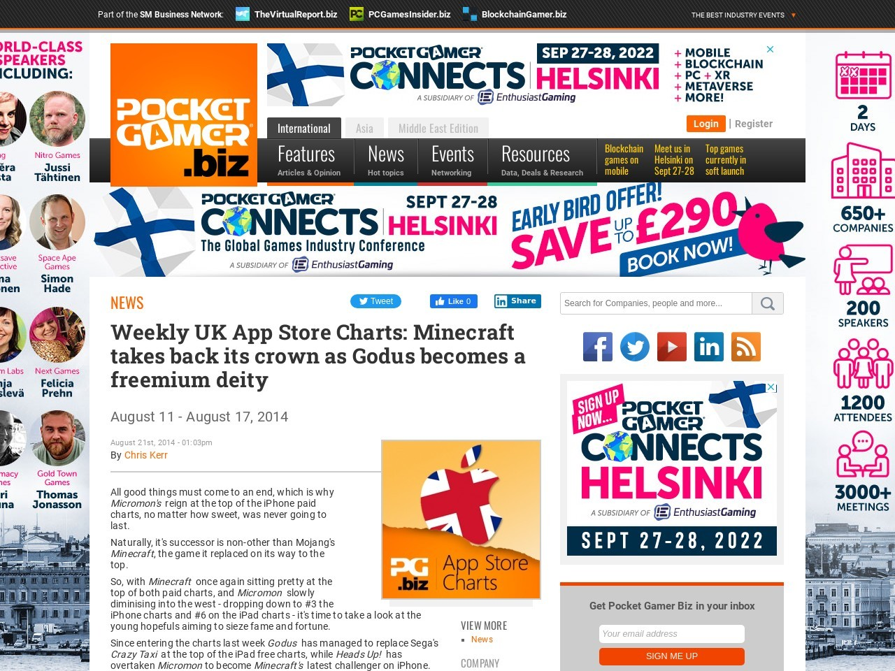 Weekly UK App Store Charts: Minecraft takes back its crown as Godus becomes …