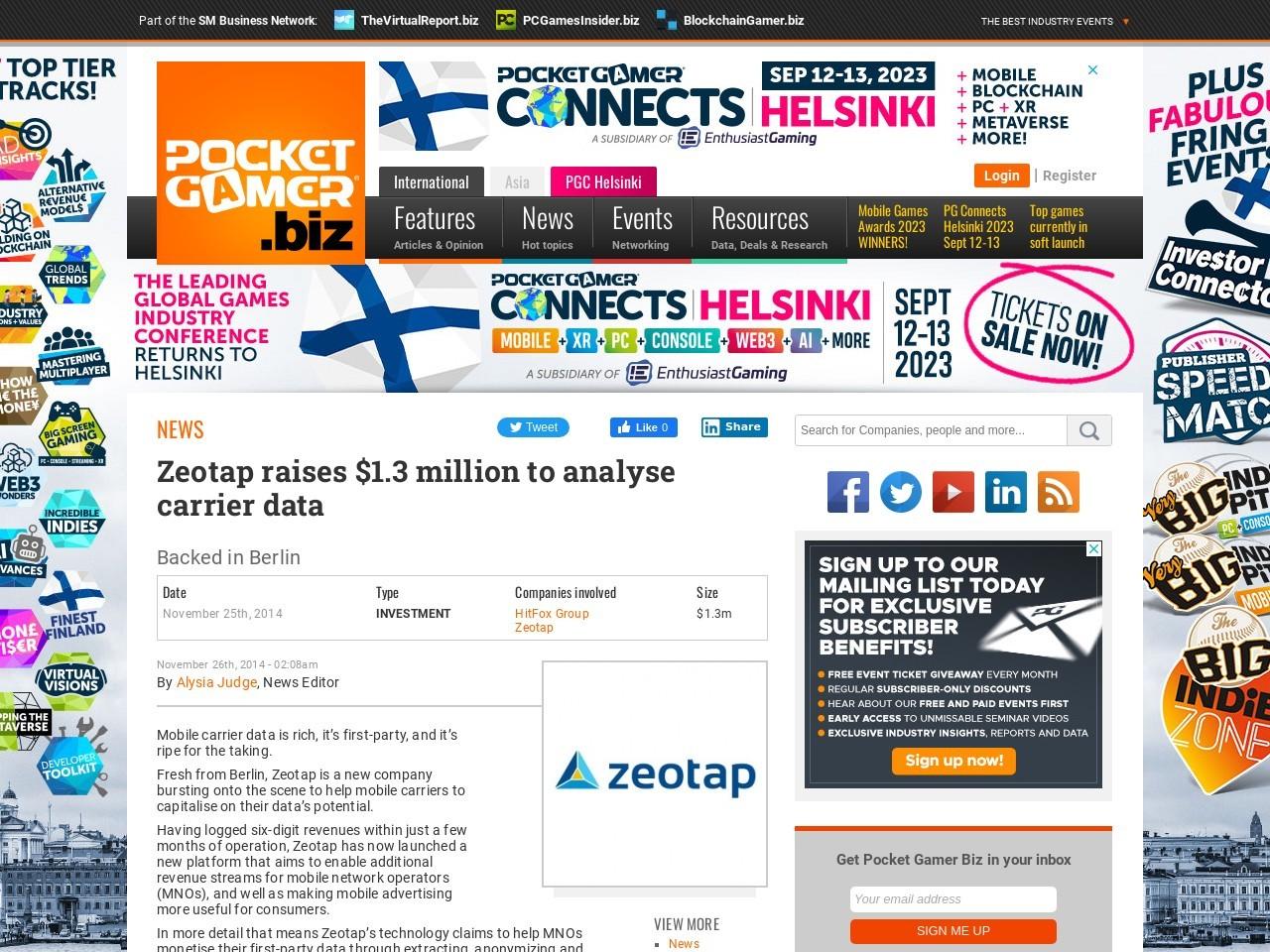 Zeotap raises $1.3 million to analyse carrier data