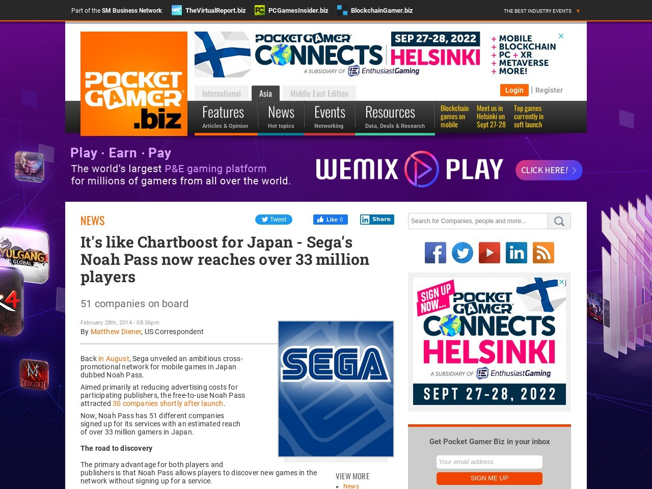 It's like Chartboost for Japan – Sega's Noah Pass now reaches over 33 million …