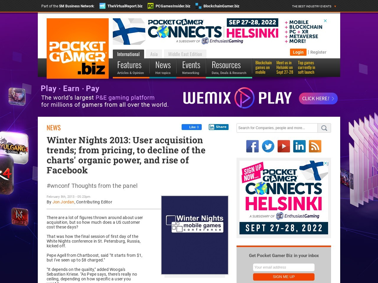 Winter Nights 2013: User acquisition trends; from pricing, to decline of the …