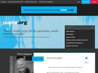 Screenshot for poets.org
