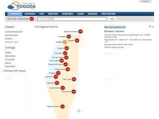Screenshot for pogoda.co.il