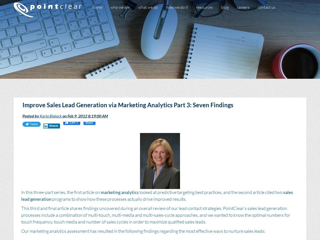 Improve Sales Lead Generation via Marketing Analytics Part 3