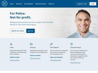 Screenshot for policecu.org.nz