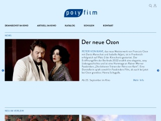 Screenshot der Website polyfilm.at