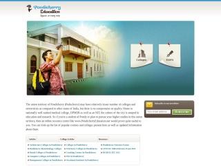 Screenshot for pondicherryeducation.net