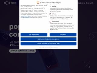 Screenshot der Website popup.at