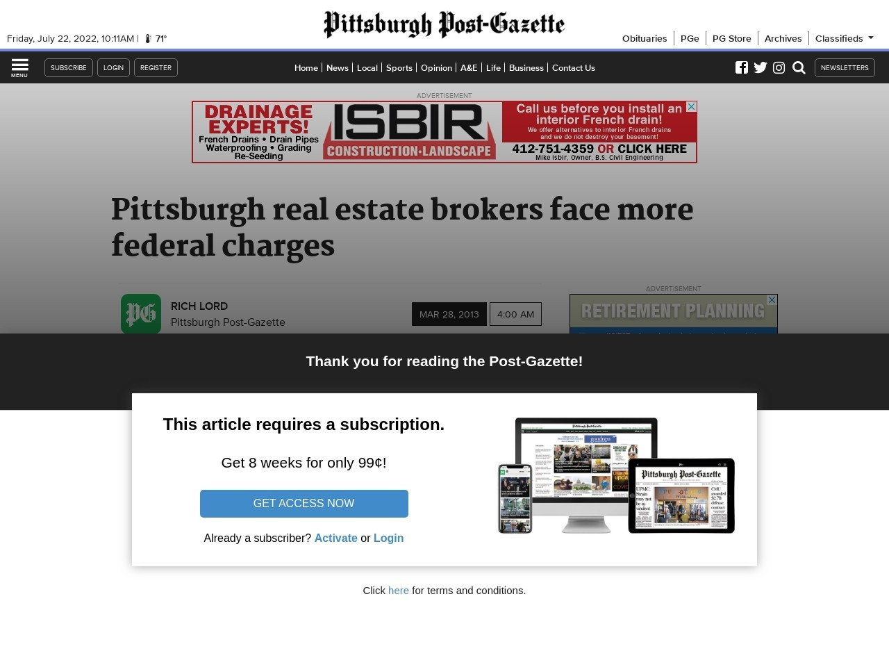 Pittsburgh real estate brokers face more federal charges