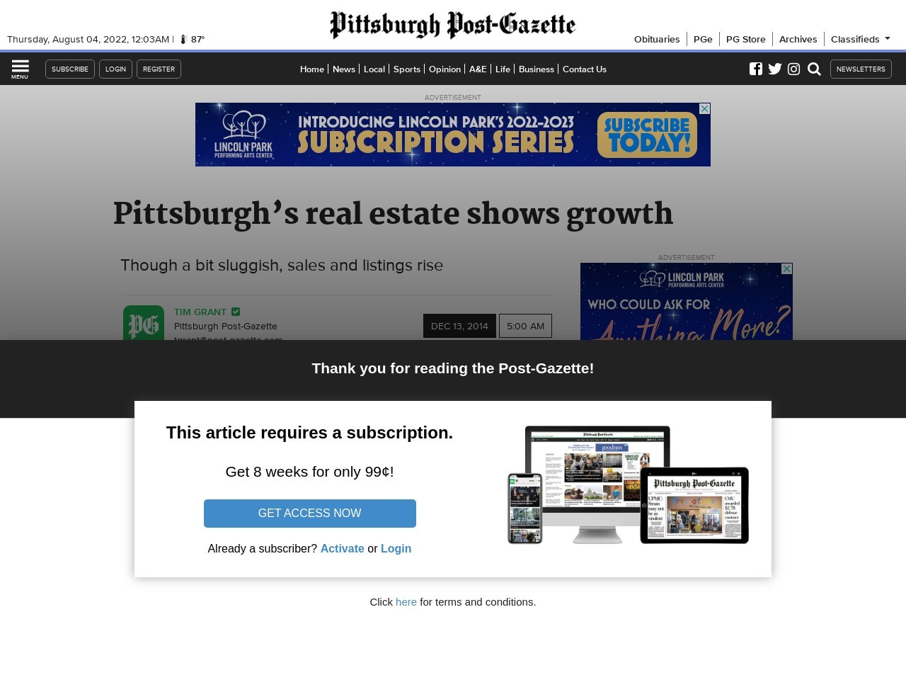 Pittsburgh's real estate shows growth