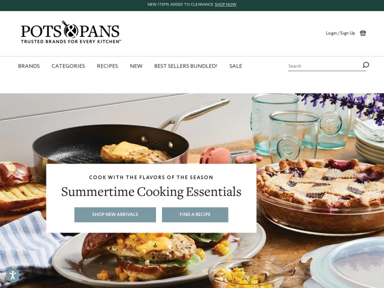 Cookware Outlet – Anolon, Circulon, Farberware, Bonjour screenshot