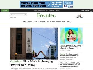 Screenshot for poynter.org