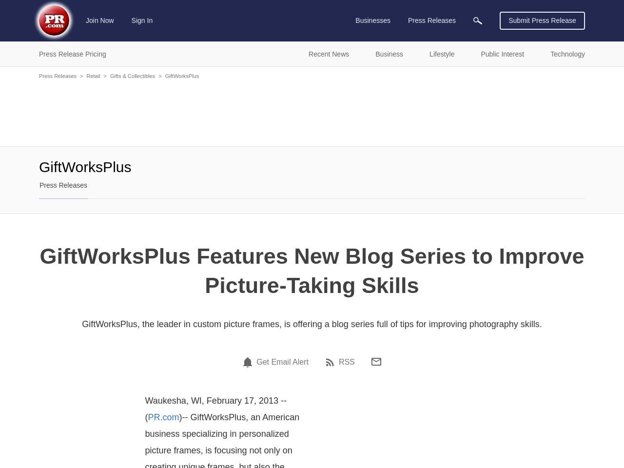 GiftWorksPlus Features New Blog Series to Improve Picture-Taking Skills