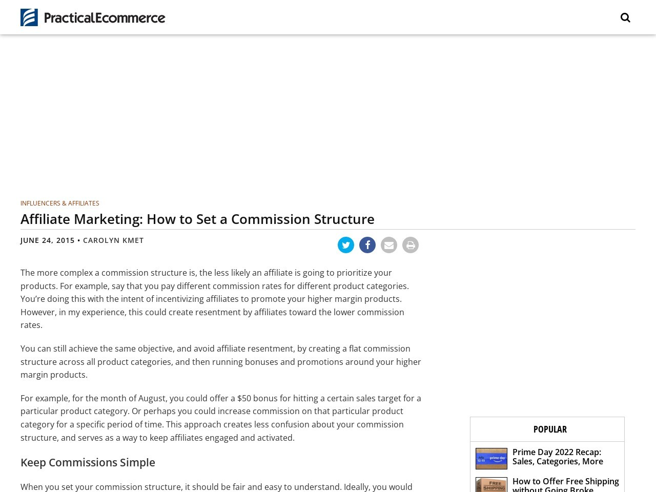 Affiliate Marketing: How to Set a Commission Structure …