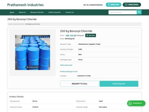 250 Kg Benzoyl Chloride Manufacturer