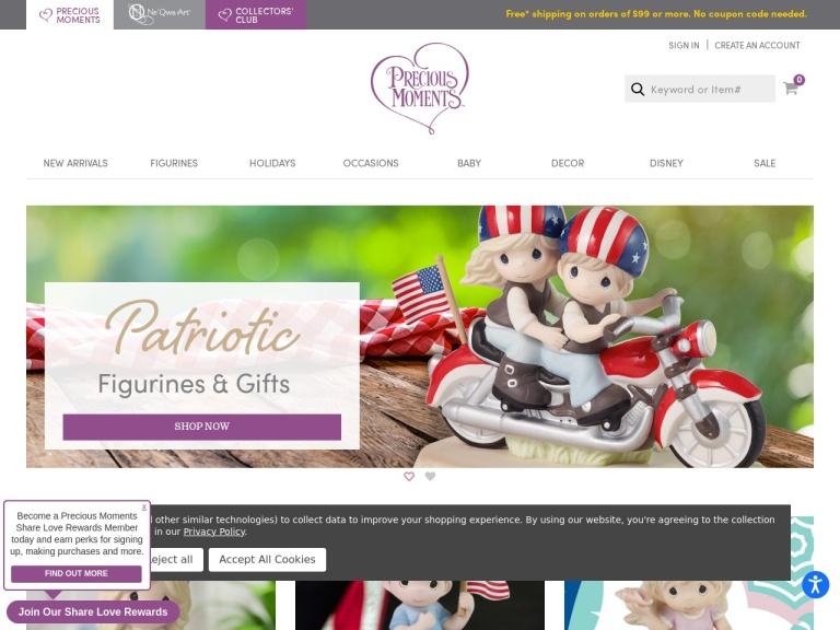 preciousmoments.com screenshot