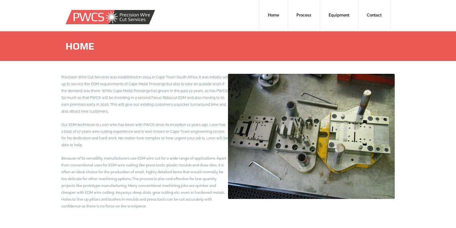 Preview of http://www.precisionwirecutservices.co.za/
