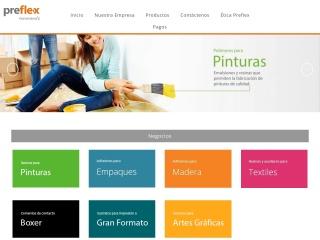 Captura de pantalla para preflex.com.co