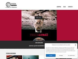 Captura de pantalla para premiosdepublicidadagripina.es