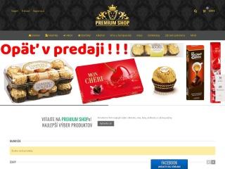 Screenshot stránky premiumshop.sk
