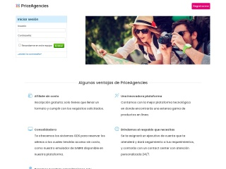 Captura de pantalla para priceagencies.com.mx