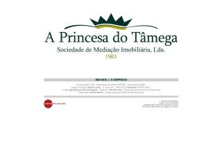 Screenshot do site princesa-tamega.pt