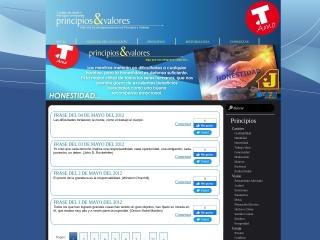 Captura de pantalla para principiosyvalores.com.co