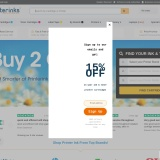 Sign up to PrinterInks and get 10% off for your first order