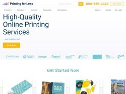PrintingForLess.com screenshot