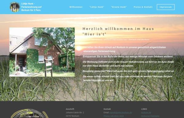 Vorschau von www.prinz-borkum.de, Ferienwohnung
