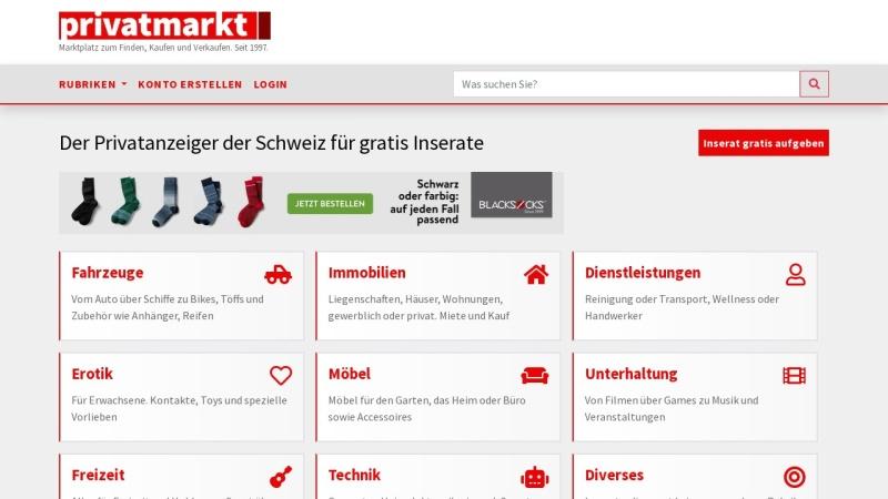 www.privatmarkt.ch Vorschau, Privatmarkt