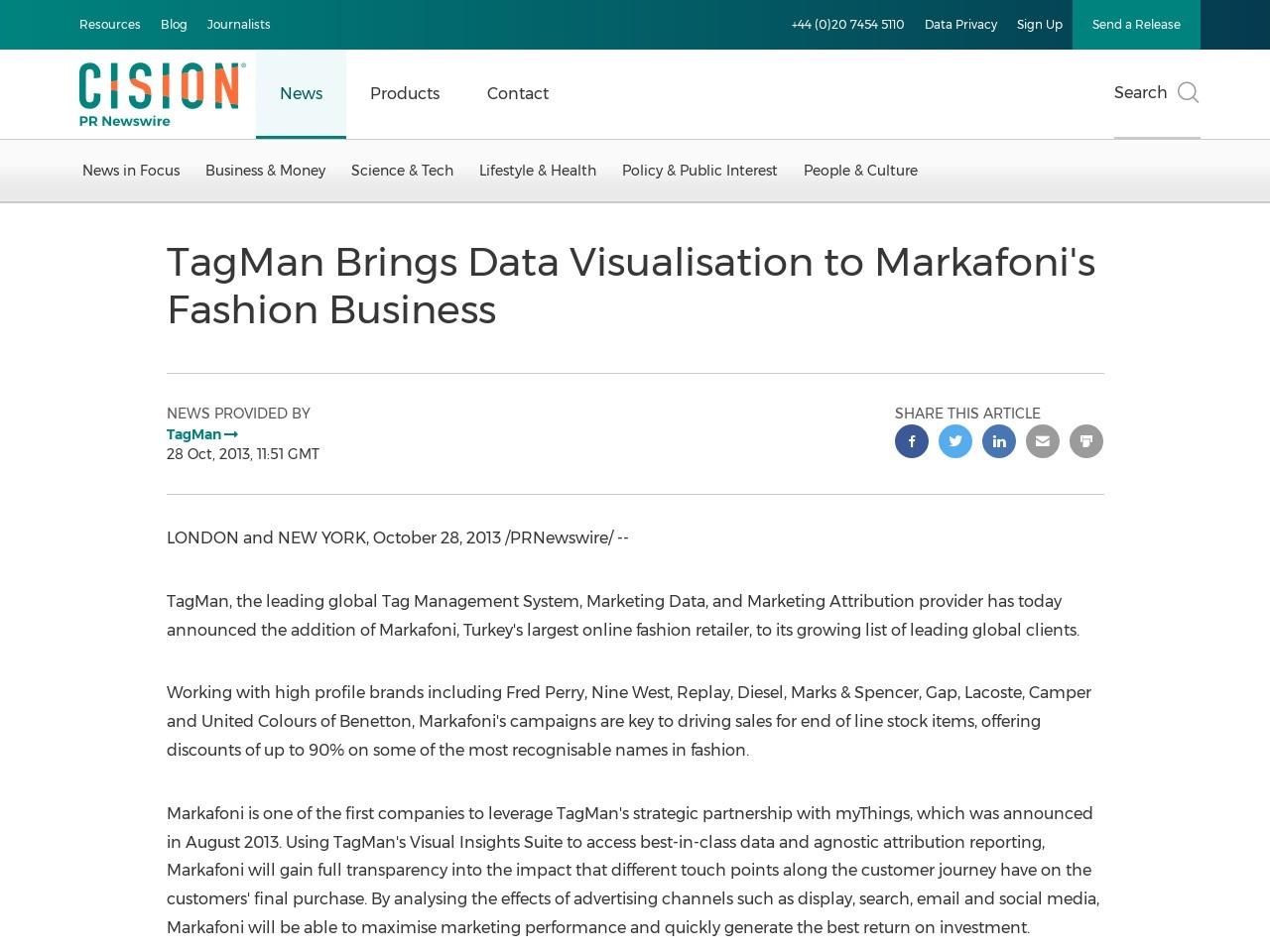 TagMan Brings Data Visualisation to Markafoni's Fashion Business